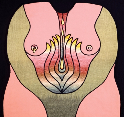 judy chicago Birth_Garment_2_Flowering_Shrub killedbytrend